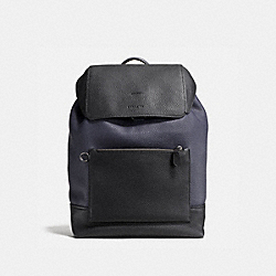 COACH 87084 - MANHATTAN BACKPACK IN COLORBLOCK MIDNIGHT/BLACK