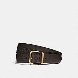 COACH 87091 Harness Buckle Cut-to-size Reversible Belt, 38mm PINE/CHESTNUT