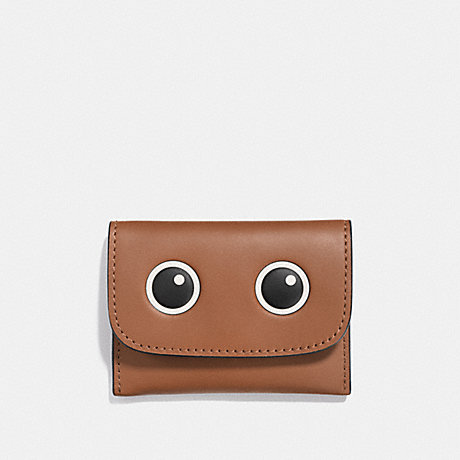 COACH 87219G CARD POUCH WITH EYES MULTICOLOR 1/SILVER