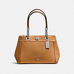 COACH 87239 - TURNLOCK EDIE CARRYALL SV/LIGHT SADDLE