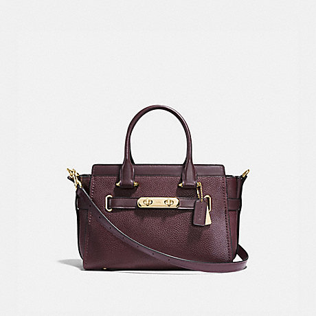 COACH 87295 COACH SWAGGER 27 OXBLOOD/LIGHT-GOLD