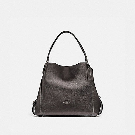 COACH 87399 EDIE SHOULDER BAG 31 GM/METALLIC GRAPHITE