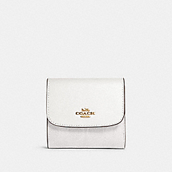 COACH 87589 - SMALL WALLET IN SIGNATURE CANVAS IM/CHALK/GLACIERWHITE