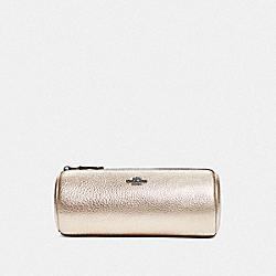 COACH 87643 - BRUSH POUCH GUNMETAL/PLATINUM