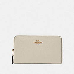 COACH 87735 Medium Zip Around Wallet IM/CHALK