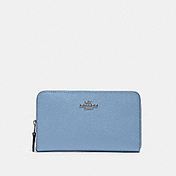 COACH 87735 Medium Zip Around Wallet SV/SLATE