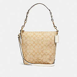 COACH 87826 Mini Abby Duffle In Signature Canvas IM/LIGHT KHAKI CHALK