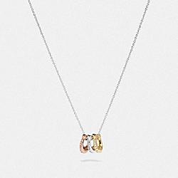 COACH 87939 Signature Rondell Necklace SV/MULTI