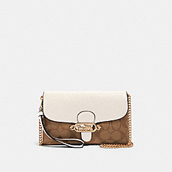 COACH 88101 Chain Crossbody In Signature Canvas IM/KHAKI/CHALK
