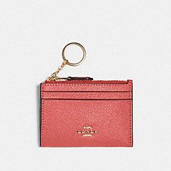 COACH 88250 Mini Skinny Id Case IM/BRIGHT CORAL