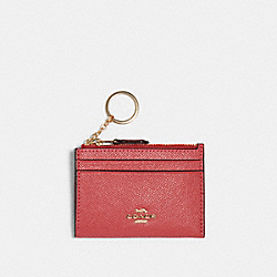 COACH 88250 Mini Skinny Id Case IM/POPPY