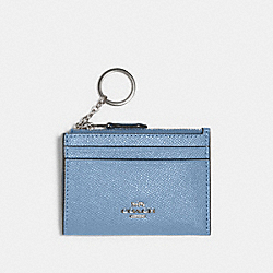 COACH 88250 Mini Skinny Id Case SV/SLATE