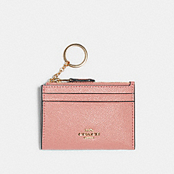 COACH 88250 Mini Skinny Id Case SV/LIGHT BLUSH