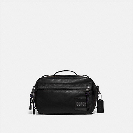 COACH 88308 PACER TOP HANDLE CROSSBODY WITH COACH PATCH JI/BLACK