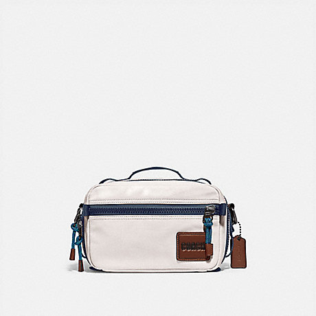 COACH 88308 PACER TOP HANDLE CROSSBODY WITH COACH PATCH JI/CHALK