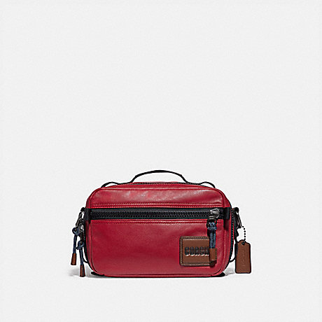 COACH 88308 PACER TOP HANDLE CROSSBODY WITH COACH PATCH JI/CARDINAL