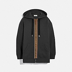 COACH 88441 - HORSE AND CARRIAGE ZIP HOODIE BLACK