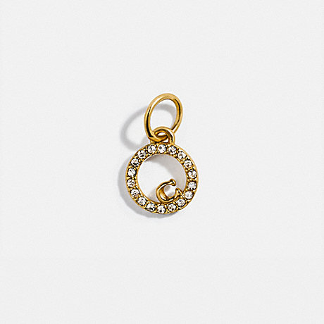 COACH 88518 COLLECTIBLE ETERNITY CIRCLE PAVE CHARM GOLD