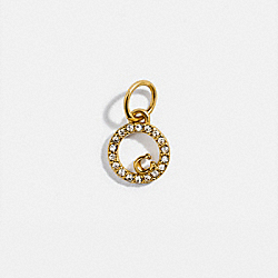 COLLECTIBLE ETERNITY CIRCLE PAVE CHARM - GOLD - COACH 88518