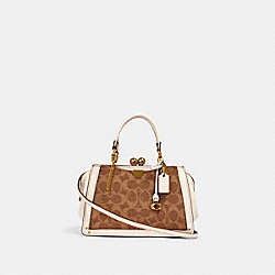 COACH 88542 - KISSLOCK DREAMER 21 IN SIGNATURE CANVAS BRASS/TAN CHALK