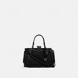 COACH 88543 - KISSLOCK DREAMER 21 WITH QUILTING AND RIVETS V5/BLACK