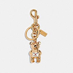 COACH 88550 3d Bear Love Letter Bag Charm IM/MULTI