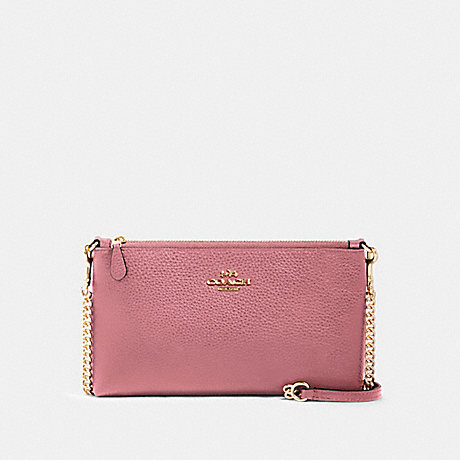 COACH 88682 ZIP TOP CROSSBODY IM/ROSE