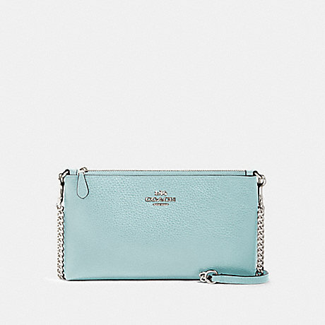 COACH 88682 ZIP TOP CROSSBODY SV/SEAFOAM