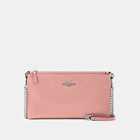 COACH 88682 ZIP TOP CROSSBODY SV/LIGHT-BLUSH