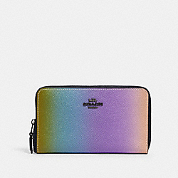 COACH 88692 Medium Zip Around Wallet With Ombre QB/MULTICOLOR