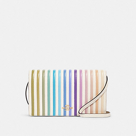 COACH 88694 HAYDEN FOLDOVER CROSSBODY CLUTCH WITH OMBRE QUILTING IM/CHALK-MULTI
