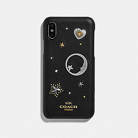 COACH IPHONE X/XS CASE WITH SOUVENIR PINS - BLACK - 88742
