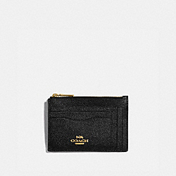 COACH 88930 Large Card Case GD/BLACK