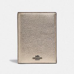 COACH 88932 Passport Case GUNMETAL/PLATINUM