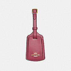 COACH 89015 Luggage Tag GOLD/DUSTY PINK