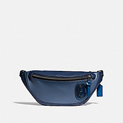 RIVINGTON BELT BAG IN COLORBLOCK WITH COACH PATCH - 89079 - BLACK COPPER/BLUE MULTI