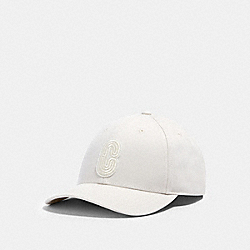 COACH 89104 - RETRO SIGNATURE PATCH HAT CHALK