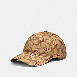 COACH 89107 - HAT IN SIGNATURE DITSY PALM PRINT KHAKI