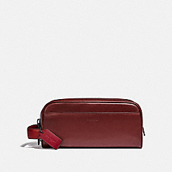 COACH 89130 - TRAVEL KIT IN COLORBLOCK DARK CARDINAL/WINE
