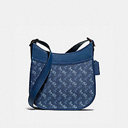 COACH 89140 Emery Crossbody With Horse And Carriage Print V5/BLUE TRUE BLUE