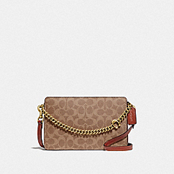 COACH 89175 - SIGNATURE CHAIN CROSSBODY IN SIGNATURE CANVAS B4/TAN RUST