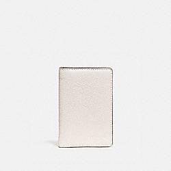 COACH 89208 Card Wallet In Colorblock CHALK/BLACK