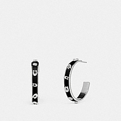 COACH 89254 - PEGGED SIGNATURE HOOP SV/BLACK