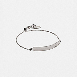 COACH BAR SLIDER BRACELET - SILVER - COACH 89272