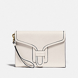 COACH 89331 Courier Wristlet B4/CHALK