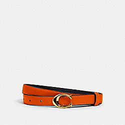 COACH 89352 - SIGNATURE BUCKLE BELT, 18MM IM/SUNBEAM