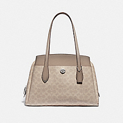 COACH 89576 - LORA CARRYALL IN SIGNATURE CANVAS LH/SAND TAUPE