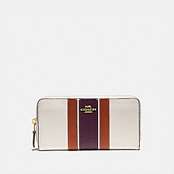 COACH 89610 Accordion Zip Wallet With Varsity Stripe B4/CHALK MULTI