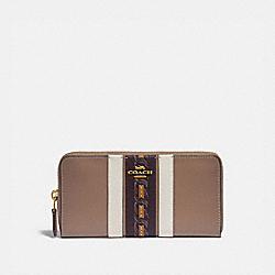 COACH 89610 Accordion Zip Wallet With Varsity Stripe B4/ELM MULTI