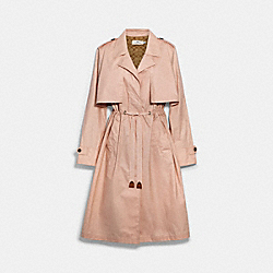 COACH 89648 - LIGHTWEIGHT OVERCOAT WITH SIGNATURE LINING BLOSSOM